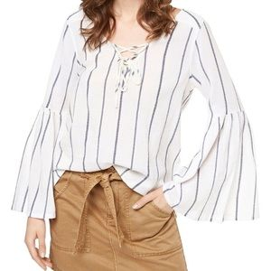 Sanctuary Lila Lace-up Bell Sleeve Top